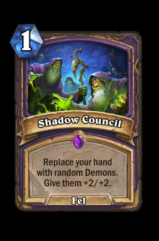 Shadow Council Hearthstone kártya