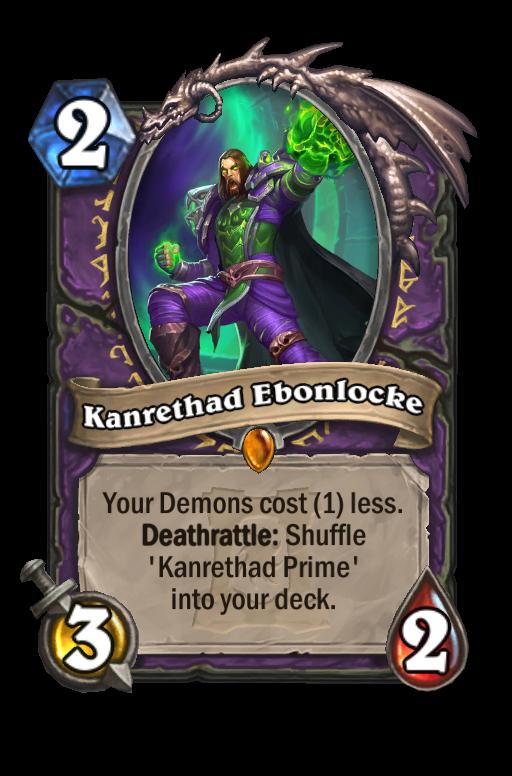 Kanrethad Ebonlocke Hearthstone kártya