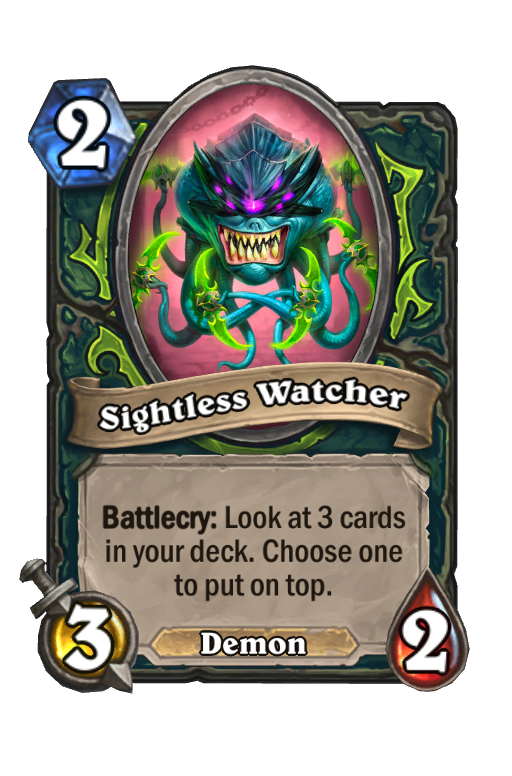 Sightless Watcher Hearthstone kártya
