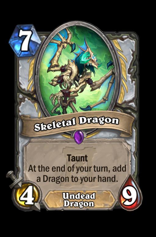 Skeletal Dragon Hearthstone kártya