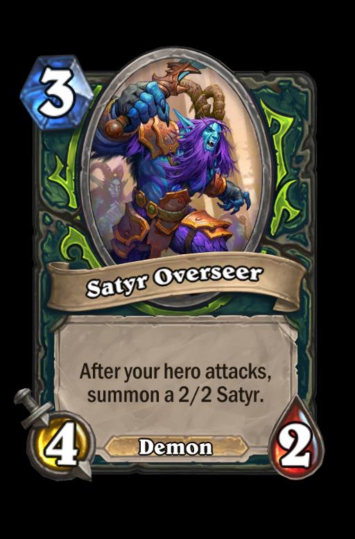 Satyr Overseer Hearthstone kártya