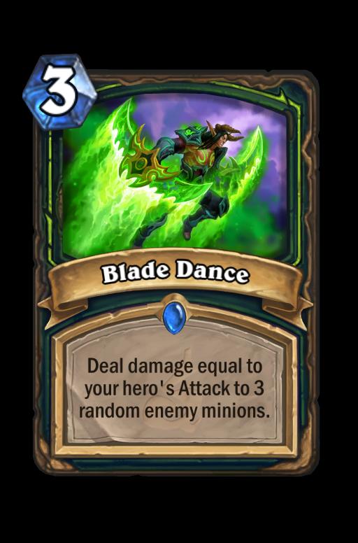 Blade Dance Hearthstone kártya