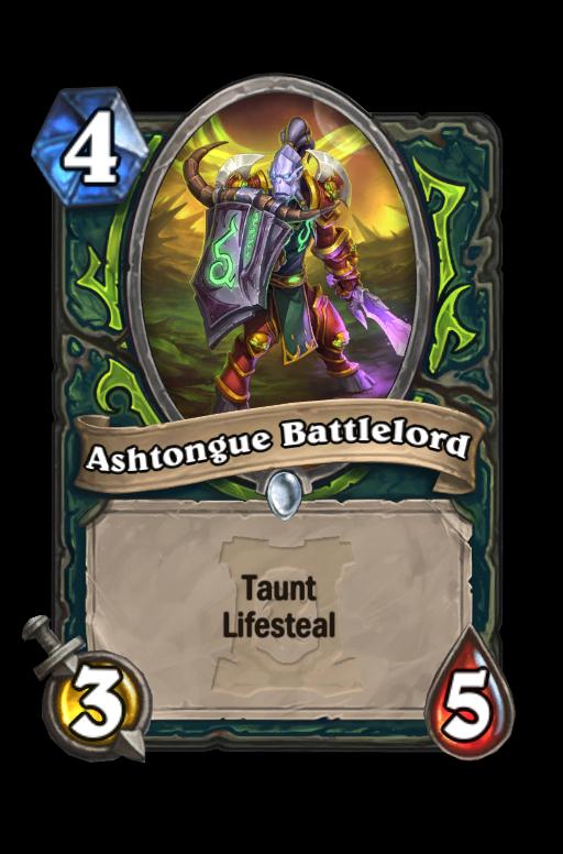Ashtongue Battlelord Hearthstone kártya