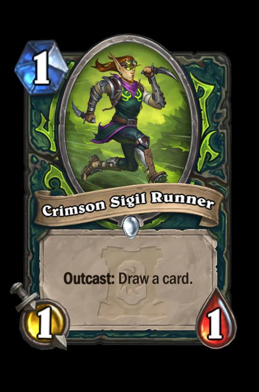 Crimson Sigil Runner Hearthstone kártya
