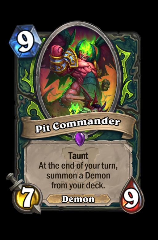 Pit Commander Hearthstone kártya