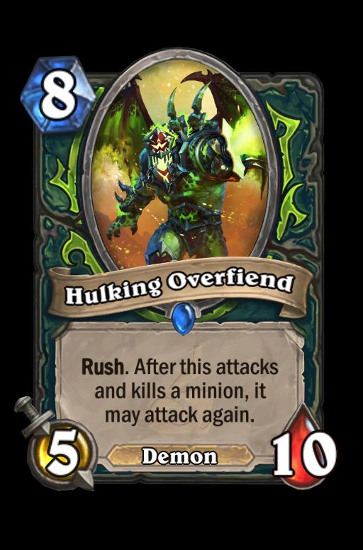 Hulking Overfiend Hearthstone kártya