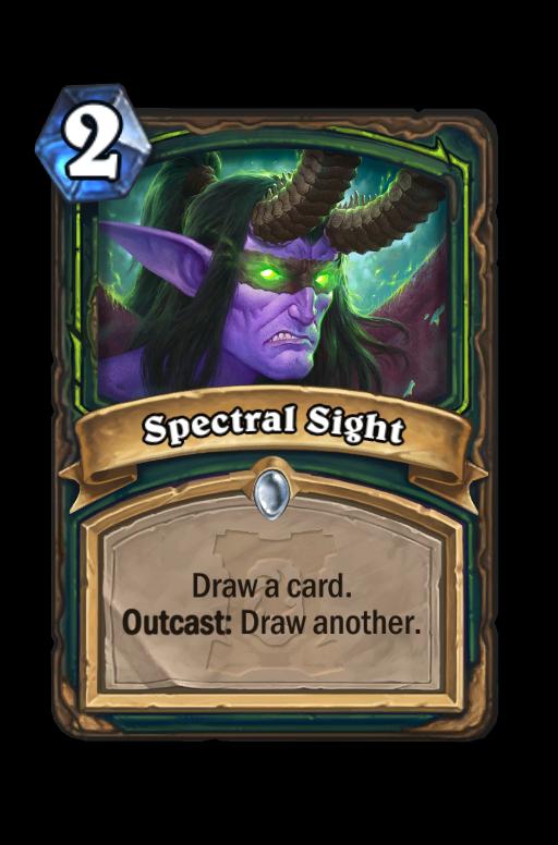 Spectral Sight Hearthstone kártya