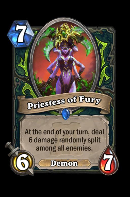 Priestess of Fury Hearthstone kártya