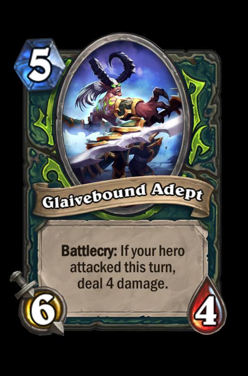 Glaivebound Adept Hearthstone kártya