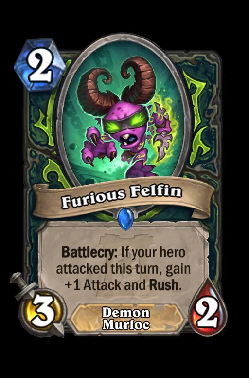 Furious Felfin Hearthstone kártya