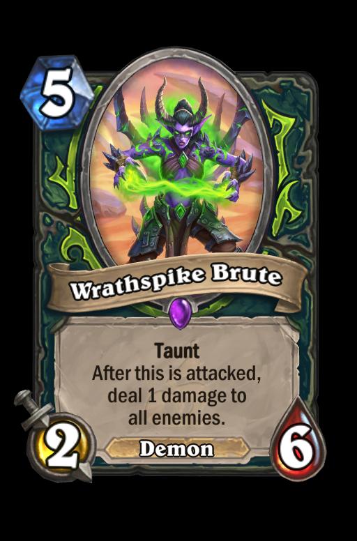 Wrathspike Brute Hearthstone kártya