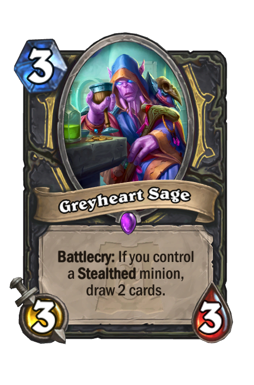 Greyheart Sage Hearthstone kártya