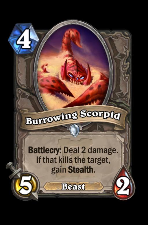 Burrowing Scorpid Hearthstone kártya