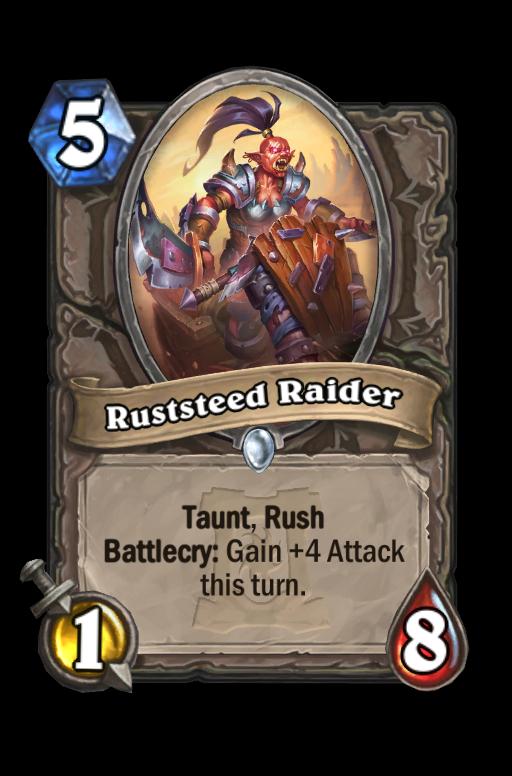 Ruststeed Raider Hearthstone kártya