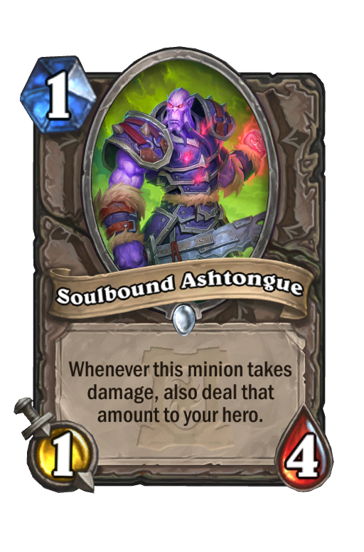 Soulbound Ashtongue Hearthstone kártya