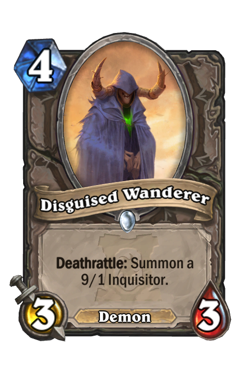 Disguised Wanderer Hearthstone kártya