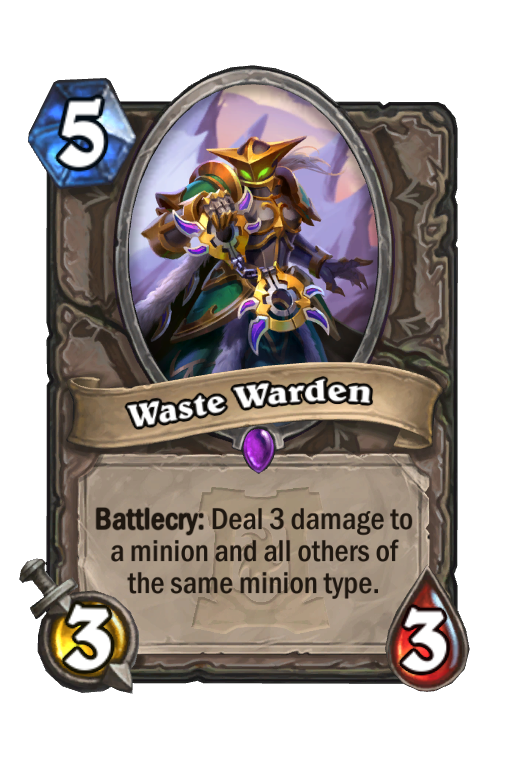 Waste Warden Hearthstone kártya
