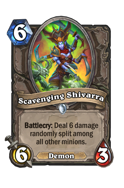 Scavenging Shivarra Hearthstone kártya
