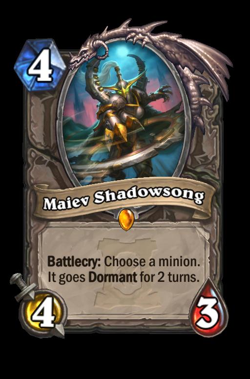 Maiev Shadowsong Hearthstone kártya