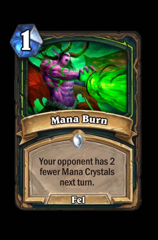 Mana Burn Hearthstone kártya