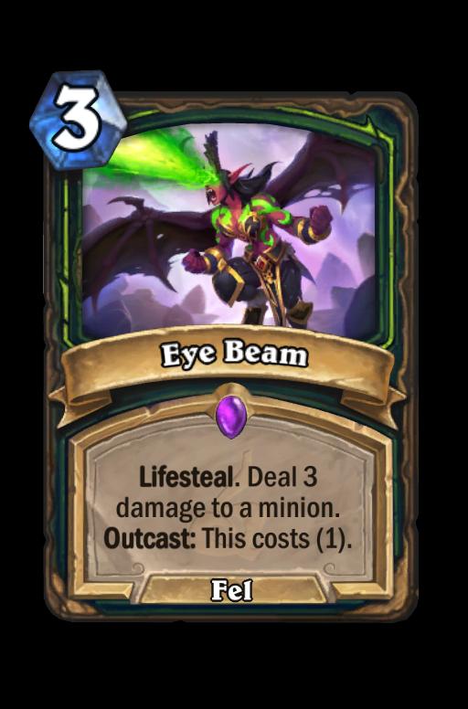 Eye Beam Hearthstone kártya