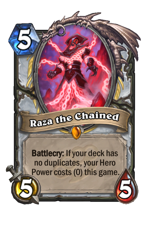 Raza the Chained Hearthstone kártya