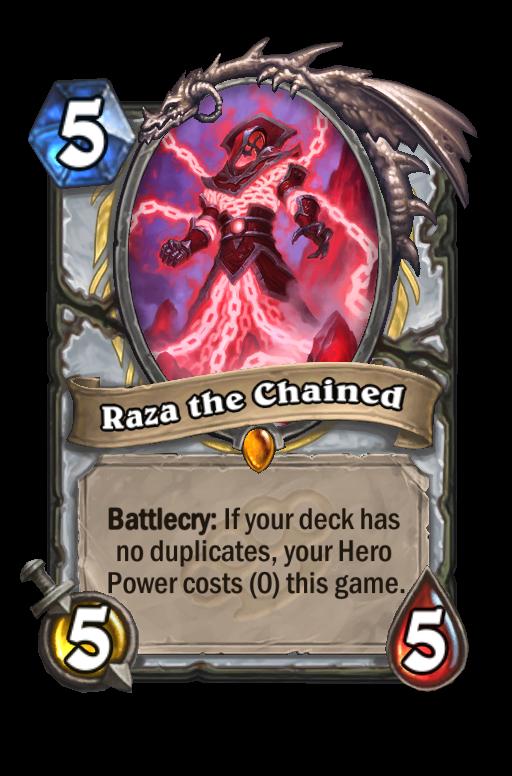 Raza the Chained Hearthstone kártya