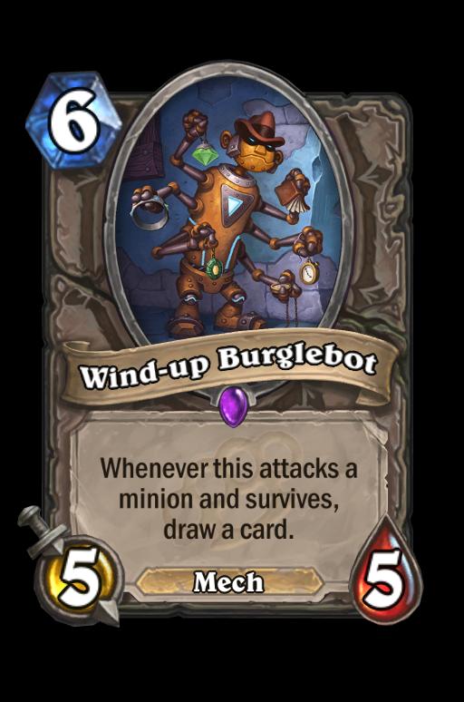 Wind-up Burglebot Hearthstone kártya