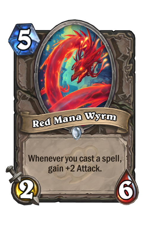 Red Mana Wyrm Hearthstone kártya