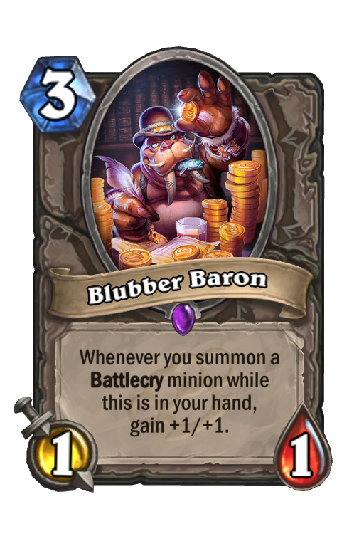 Blubber Baron Hearthstone kártya