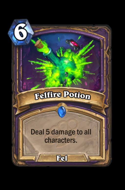 Felfire Potion Hearthstone kártya