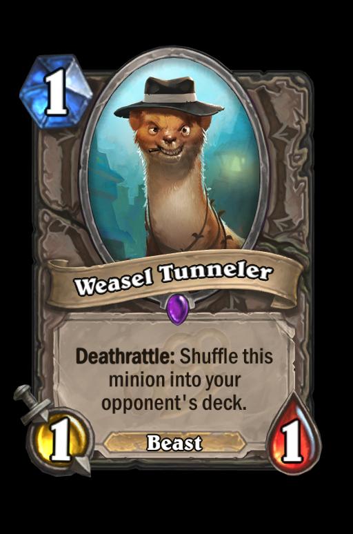 Weasel Tunneler Hearthstone kártya