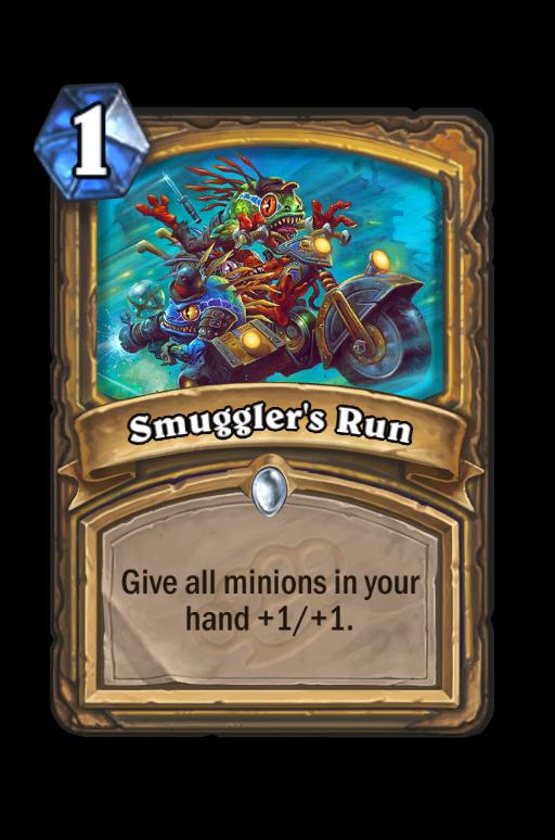 Smuggler's Run Hearthstone kártya
