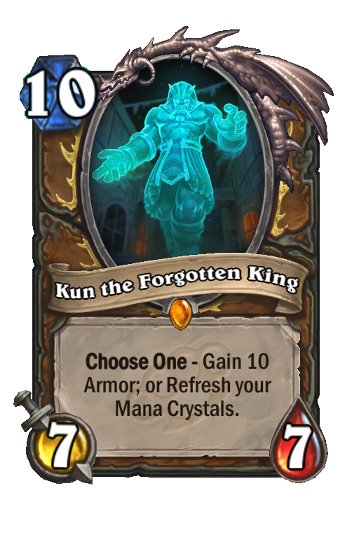 Kun the Forgotten King Hearthstone kártya
