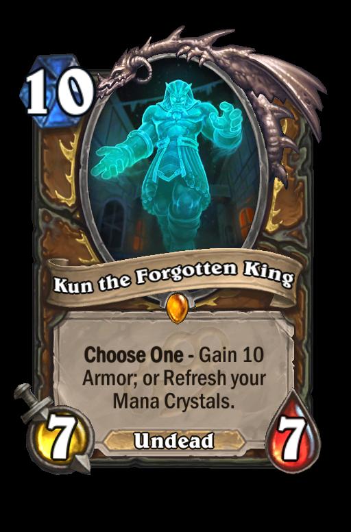 Kun the Forgotten King Hearthstone kártya