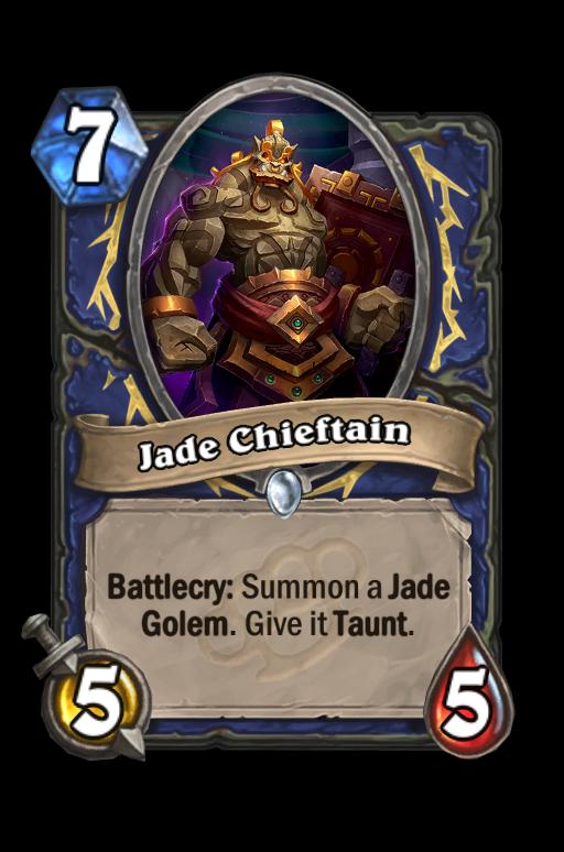 Jade Chieftain Hearthstone kártya