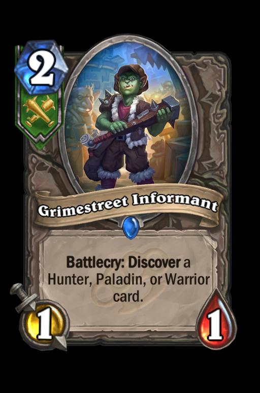 Grimestreet Informant Hearthstone kártya