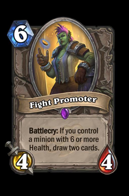 Fight Promoter Hearthstone kártya
