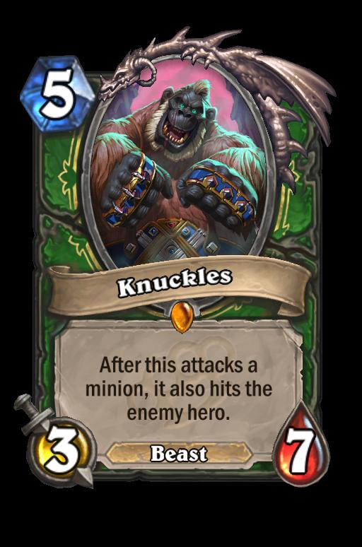 Knuckles Hearthstone kártya