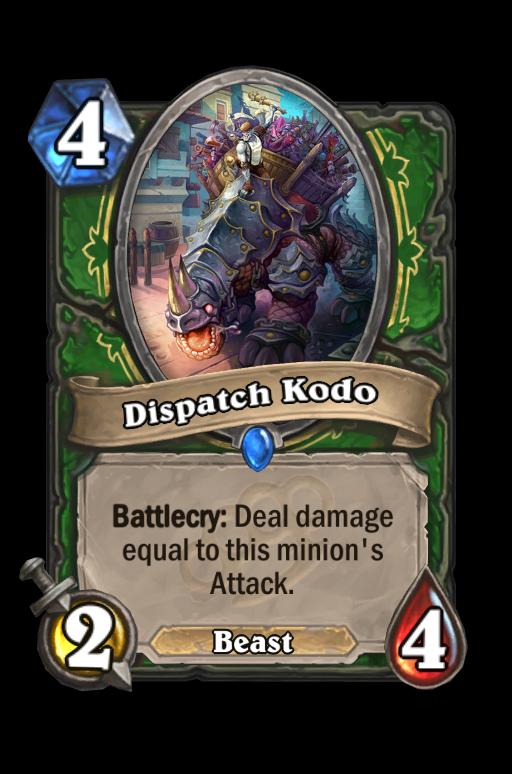 Dispatch Kodo Hearthstone kártya