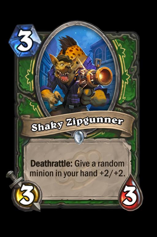 Shaky Zipgunner Hearthstone kártya