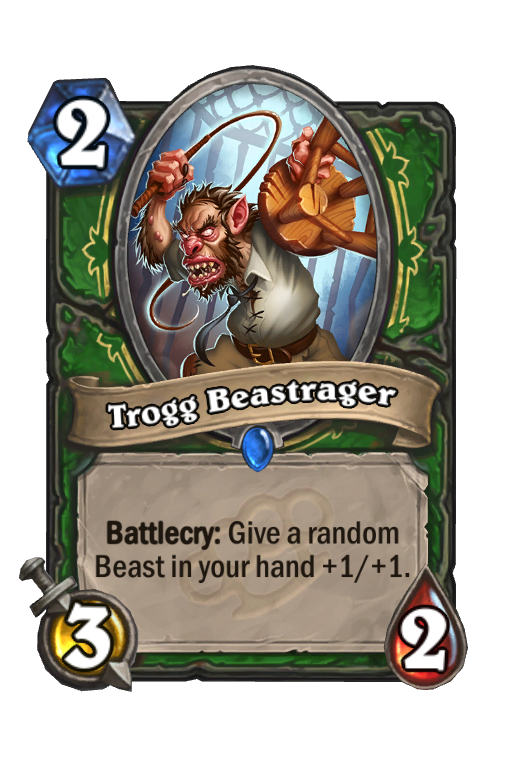 Trogg Beastrager Hearthstone kártya