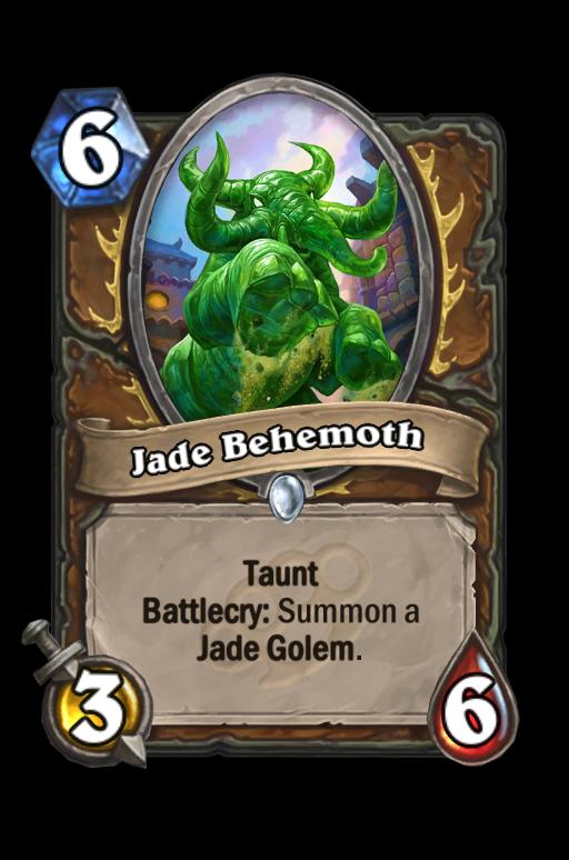 Jade Behemoth Hearthstone kártya