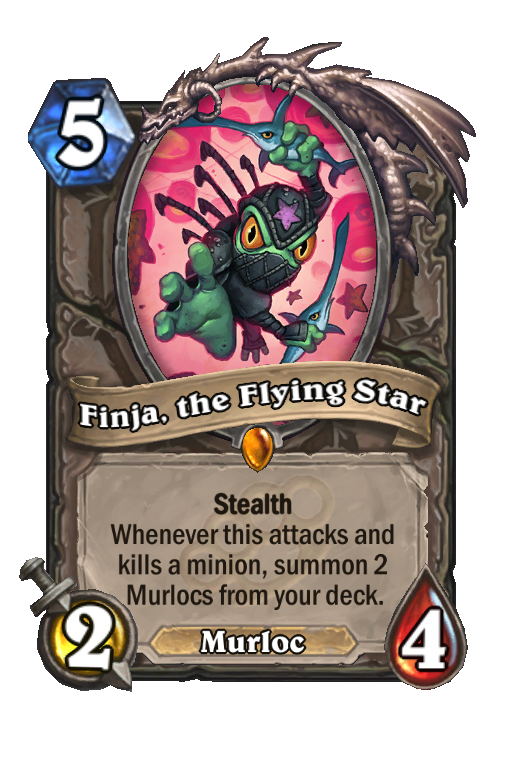 Finja, the Flying Star Hearthstone kártya