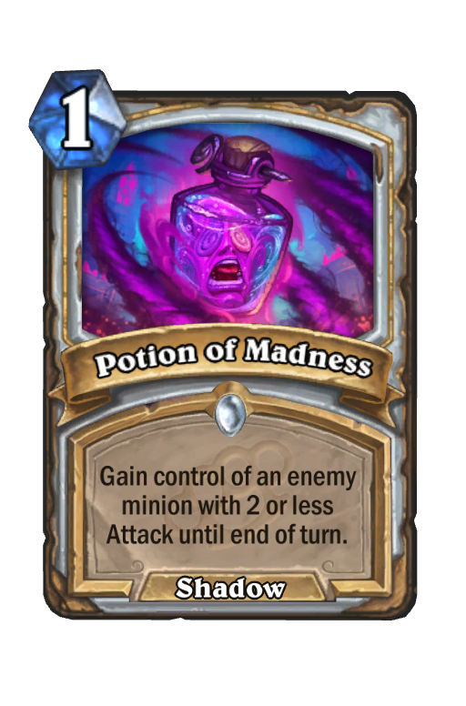 Potion of Madness Hearthstone kártya