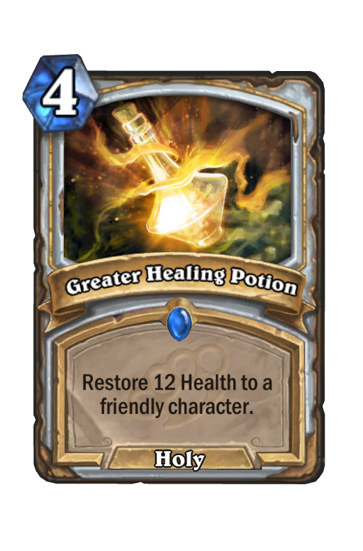 Greater Healing Potion Hearthstone kártya