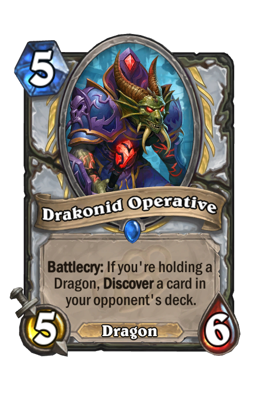 Drakonid Operative Hearthstone kártya