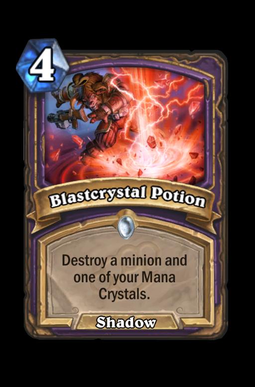 Blastcrystal Potion Hearthstone kártya