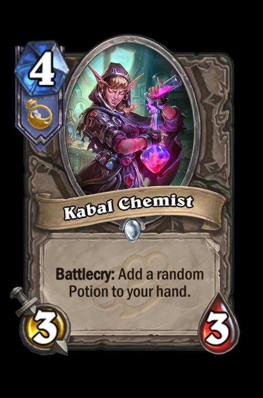 Kabal Chemist Hearthstone kártya