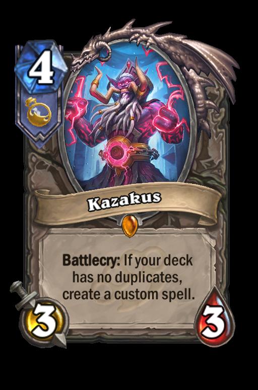 Kazakus Hearthstone kártya